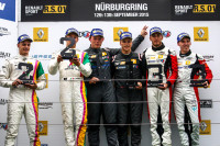 Nurburg (GER) 11-13 SEPTEMBER 2015 - World Series by Renault at the Nurburgring. Podium of race1: Roy Geerts / Max Braams #04 V8 Racing, David Fumanelli / Dario Capitanio #08 Oregon Team and Andrea Pizzitola / Richard Gonda #02 ART. Portrait. © 2015 Sebastiaan Rozendaal / Dutch Photo Agency / LAT Photographic